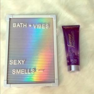 Forever midnight bath and Bodyworks body cream